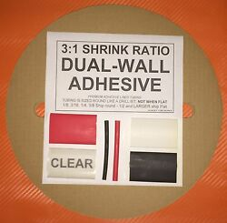 1/2 / 12mm Black 50 Ft. Dual-wall Adhesive Lined Heat Shrink Tubing 31 Ratio