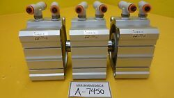 Smc Ncdq2b100-10d Double Action Pneumatic Cylinder Reseller Lot Of 3 Used