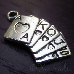 Poker Cards, Playing Cards Wholesale Charm Pendants C8485 - 10, 20 Or 50pcs