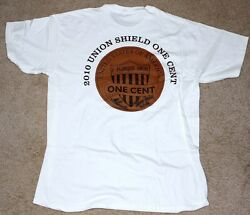 2010 Lincoln Cent Union Shield Release Ceremony T Shirt Signed By Chuck Taylor