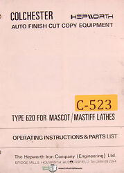 Colchester Hepworth 620, Mascot Mastiff Lathes, Operations Parts Wiring Manual