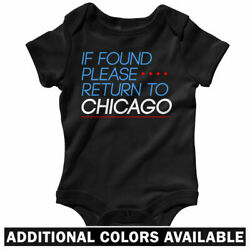 Return To Chicago One Piece - Usps Homesick Baby Infant Creeper Romper Nb-24m