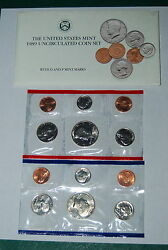 1989 Uncirculated Coin Set Us Mint