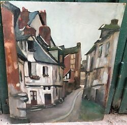 Gorgeous Montet Maurice 1905-1997 - French Painter - Oil On Cardboard