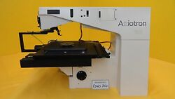 Carl Zeiss 45 28 25 Microscope Body Axiotron With Stage Used As-is