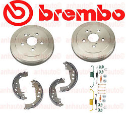 Toyota Celica Gt 00-05 Brembo Rear Brake Drums + Shoes + Hardware Kit