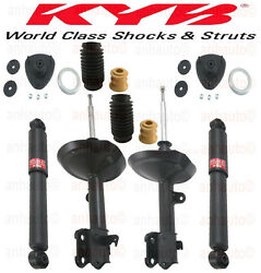 4-kyb Excel-g® 2-front And 2-rear Strut/shocks Mounts Dust Boots Acura Mdx 03-06