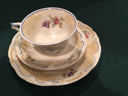Vintage Bone China Unmarked Cup Saucer Plate
