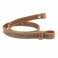 Buffalo Hide Leather Rifle Gun Sling_crazy Horse/brown_amish Handmade_1 Wide