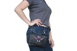 Biker Leather Loop Handbag Eagle Embroidery Motorcycle Fanny Pack Clip Pouch JTC $25.49