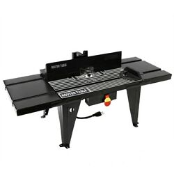 Aluminum Router Table Benchtop 34x13 Deluxe W/ On/off Switch Routing New