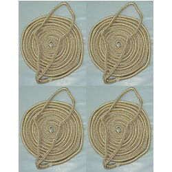 4 Pack Of 1/4 Inch X 6 Ft Gold And White Double Braid Nylon Fender Lines For Boats