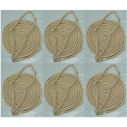6 Pack Of 3/8 Inch X 6 Ft Gold And White Double Braid Nylon Fender Lines For Boats