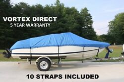 New Vortex Heavy Duty Fishing/ski/runabout/boat Cover 14-16and039 Blue