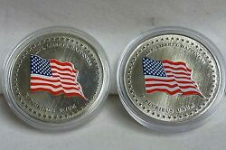 2001 225 Year Usa Commem 2 Medal Set Sterling And Copper-nickle Free Ship I-1952