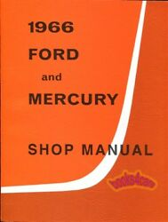 SHOP MANUAL 1966 SERVICE REPAIR FORD MERCURY BOOK