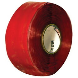 1 Inch X 10 Ft Red Silicone Self Fusing Tape For Boats - Waterproofing Seal