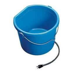 Heated Flat Back Bucket Allied Precision 5 Gallon Horse Drinking Water Barn New
