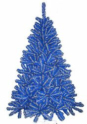 Denver Nuggets Blue And Yellow 6ft Christmas Tree Team Colored Spirit Tree Nba