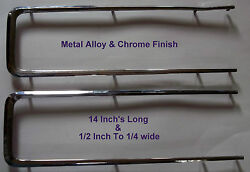 Vintage Pair Of Chrome Trim P/nand039s 4420162 We Think They Are Opel Donand039t Know Year