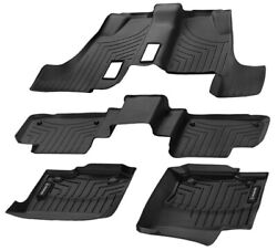 Mercedes Oem All Weather Floor Liners Trays Mats 2013-2016 Gl-class X166 3 Rows