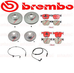 Set Of 2 Front Brake Rotors And 2 Rear + Pads Bmw E70 E71 Brembo