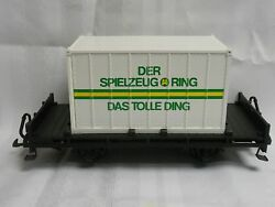 lgb 4003 sr flat car container g scale ob