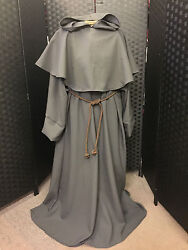 Monk Robe In Stone Washed Linen Choice Of Colours Fancy Dress Halloween