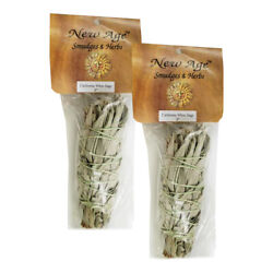 2pc White Sage Smudge Sticks 5-6 Wicca Native American Herbal Purification