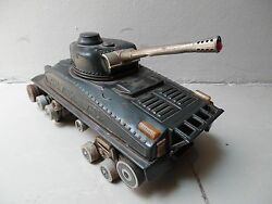 yonezawa tank panzer tin toy battery