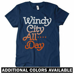 Windy City All Day Womenand039s T-shirt - Chicago Hip-hop Retro Vintage Il - S To 2xl