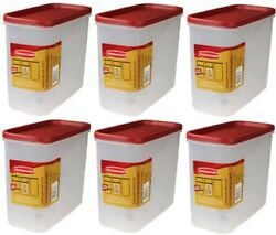 Rubbermaid 1776472 Racer Red 16 Cup Dry Food Storage Containers - Quantity 6