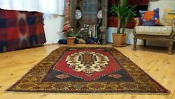 """Breathtaking Antique 1900-1939s Tribal Hand-knotted Wool Pile Area Rug 4' X6'6"""""""