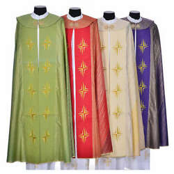 Cope In Pure Virgin Wool With Twisted Thread Crosses
