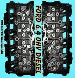 2 Ford 6.4 Powerstroke V8 Twin Turbo Diesel F350 Truck Cylinder Heads No Core