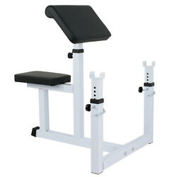 Arm Curl Weight Bench Adjustable Commercial Preacher Seated Dumbbell
