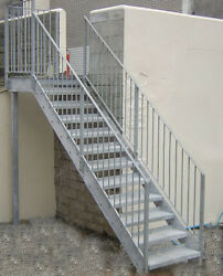 Steel Stairs Fire Escape Private Stair - Custom Made To Order