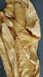 1 Roll 80 Yards Crease Taffeta Crushed Gold Tablecloth Dresses 54 Width