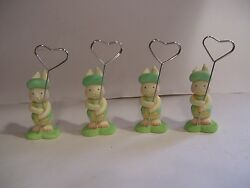 4 Easter Spring Bunny Rabbit Place Card Holders Name Holders Ceramic Lot Of 4