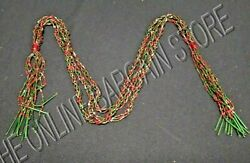 Frontgate Christmas Holiday Set 12 Beaded 33 Swag Ornaments Garland Red Green