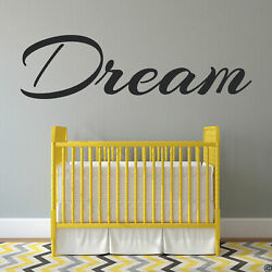 Dream Vinyl Wall Decal Inspirational Quote Home Art Decor Removable Sticker L006