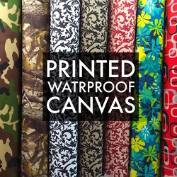Printed Canvas Fabric Waterproof Outdoor 60quot; wide 600 Denier by the yard