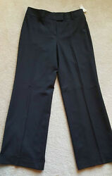 Talbots Black Stretch Dress Pants Trousers Slacks With Cuffs New With Tag