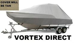 New Vortex Tan/beige 19and039 T-top Center Console Boat Cover
