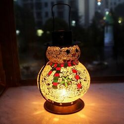 Mosaic Christmas Snowman Tealight Candle Holders Xmas Ornament Winter decor Gift