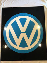 Rare Hand Brush Painted Vw Volks Wagon Metal Sign From Import Mechanic Shop