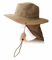 New Fishing Hiking Hunting Military Snap Brim Neck Cover Sun Flap Bucket Hat Cap $10.95