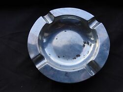 Ash Tray Art Deco Sterling Silver London 1950 Nice Shape And Style Marked