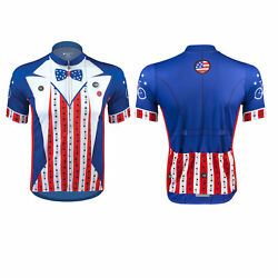 Aero Tech Designs Uncle Sam Patriotic Cycling Bike Jersey Made In Usa