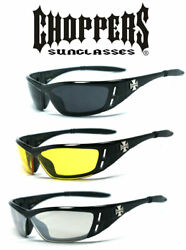3 Pair Choppers Motorcycle Riding Wrap Glasses Sunglasses Uv Protect - C46